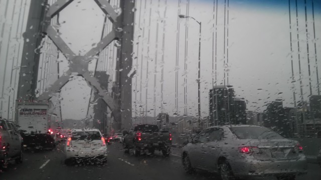 rain on the bay bridge